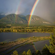 Rainbow Over the Rockies!