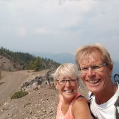 Paul and Char all set to lead a great hike. they will be back next year.