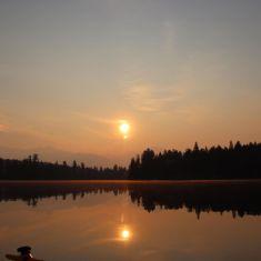 Sunset during fire season Photo by Hilda Jensen